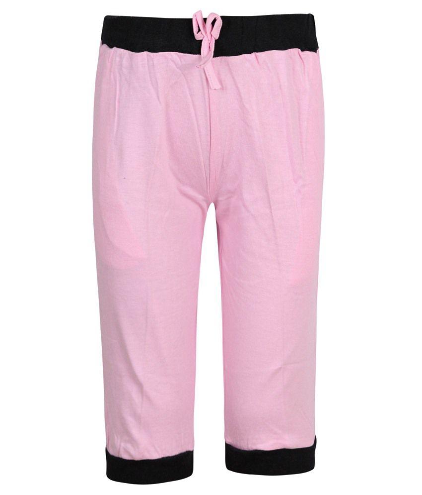 Jazzup Pink Capri For Girls