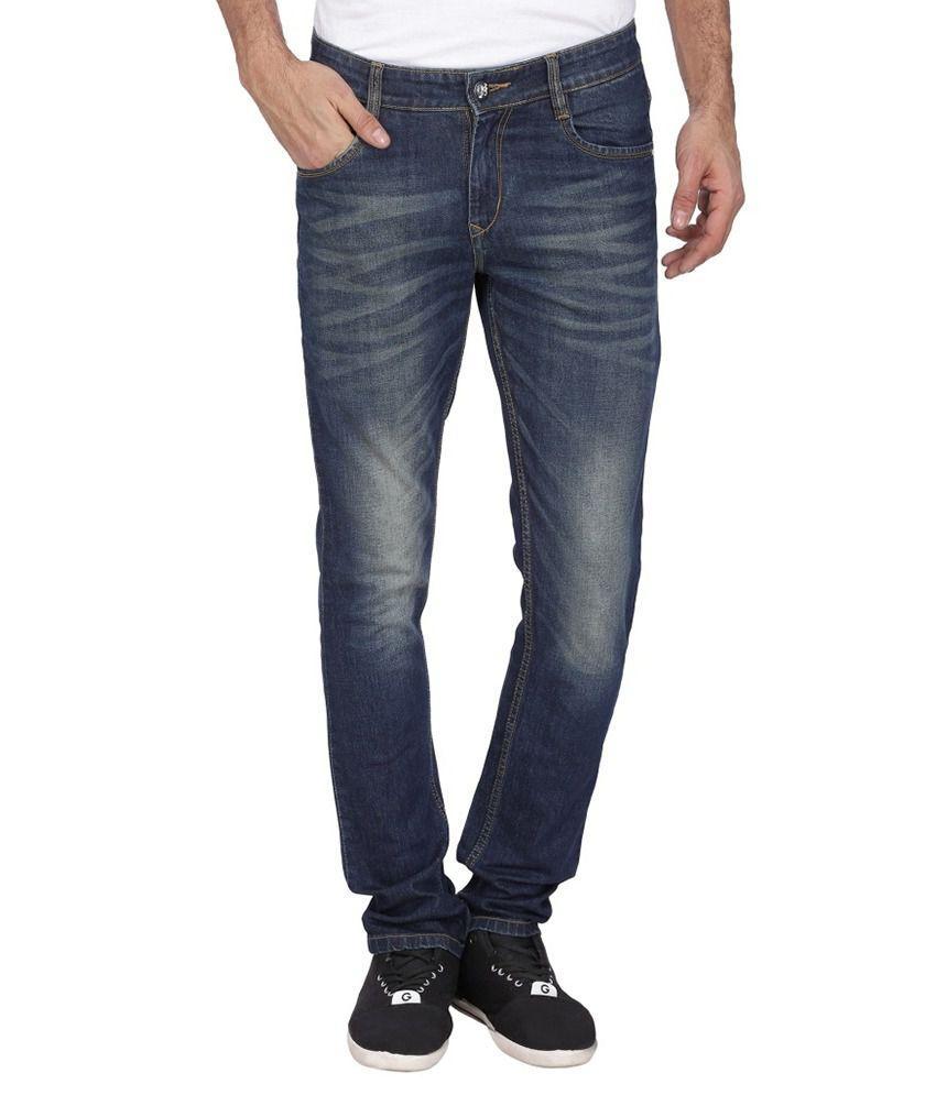 London Fashion Blue Slim Fit Jeans