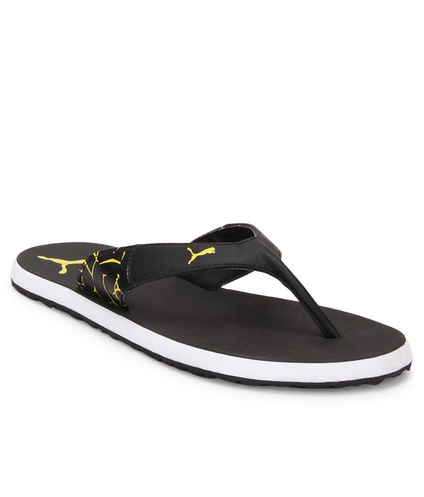 puma winglet grey slippers