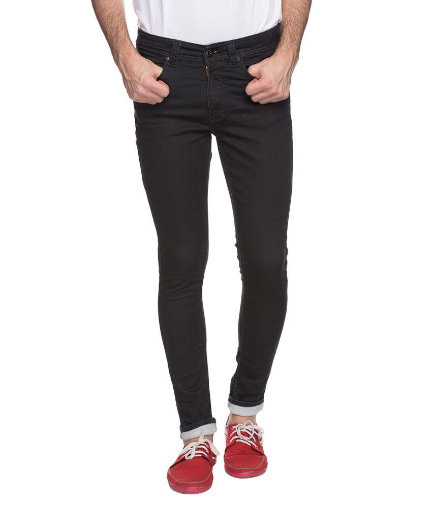 Spykar Black Skinny Fit Jeans