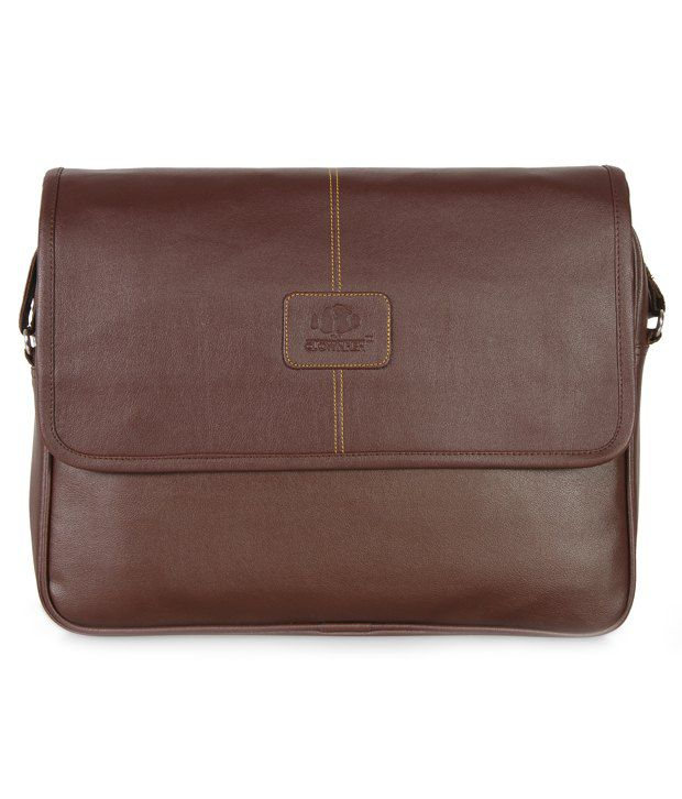 The Clownfish Brown 16.5 inch Laptop and Tablet Bag