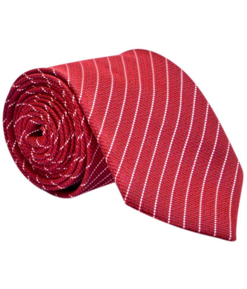 Bizarro.in Red Micro Fiber Formal Necktie