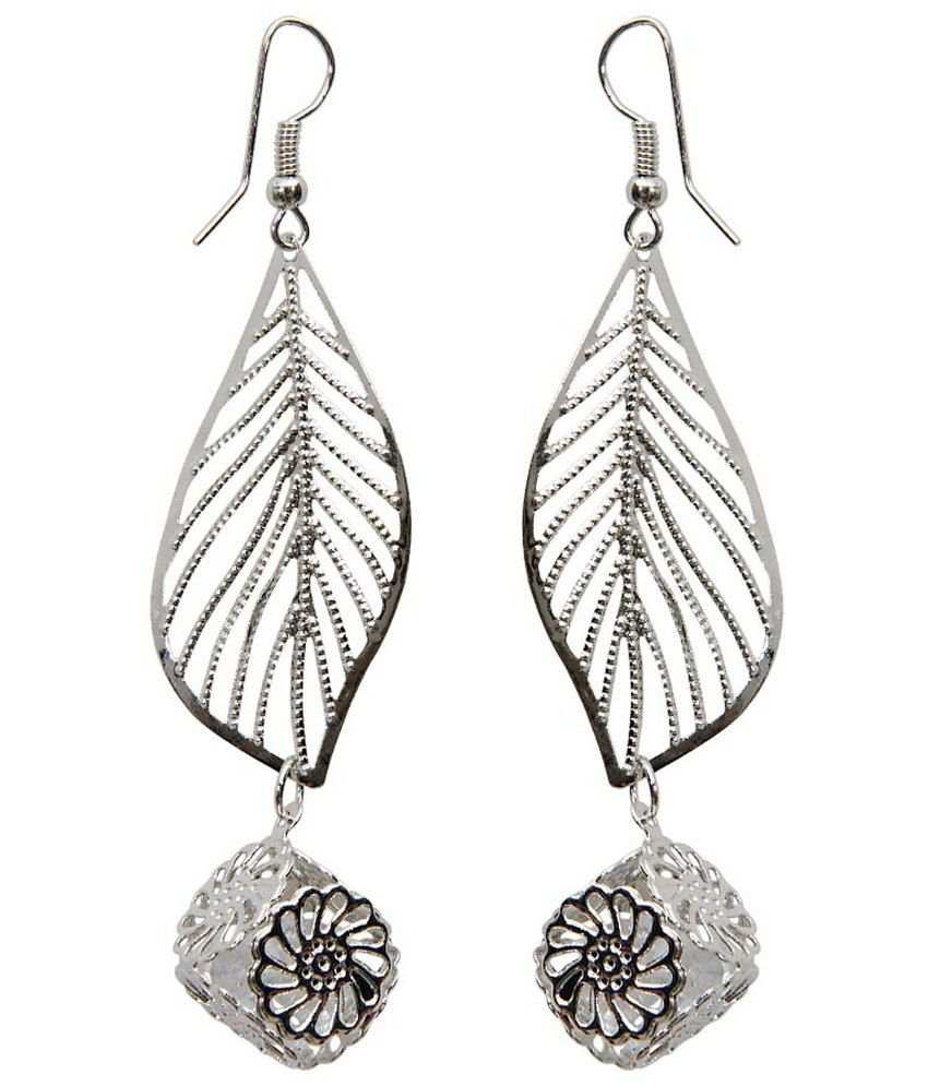 Grand Jewels Silver Alloy Earrings
