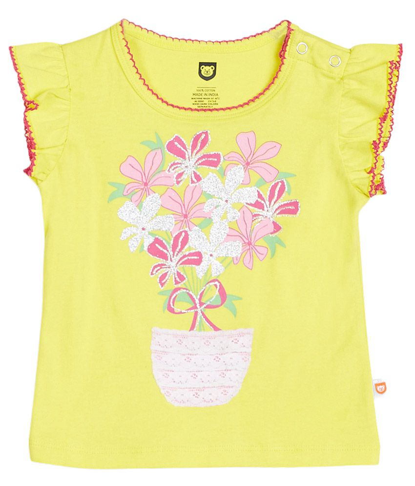 612 League Yellow Printed Top