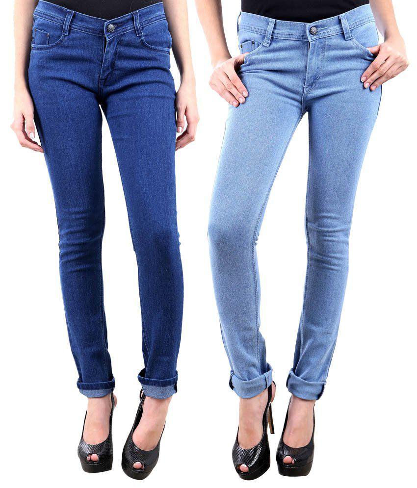 Lesuzaki Blue Denim Jeans