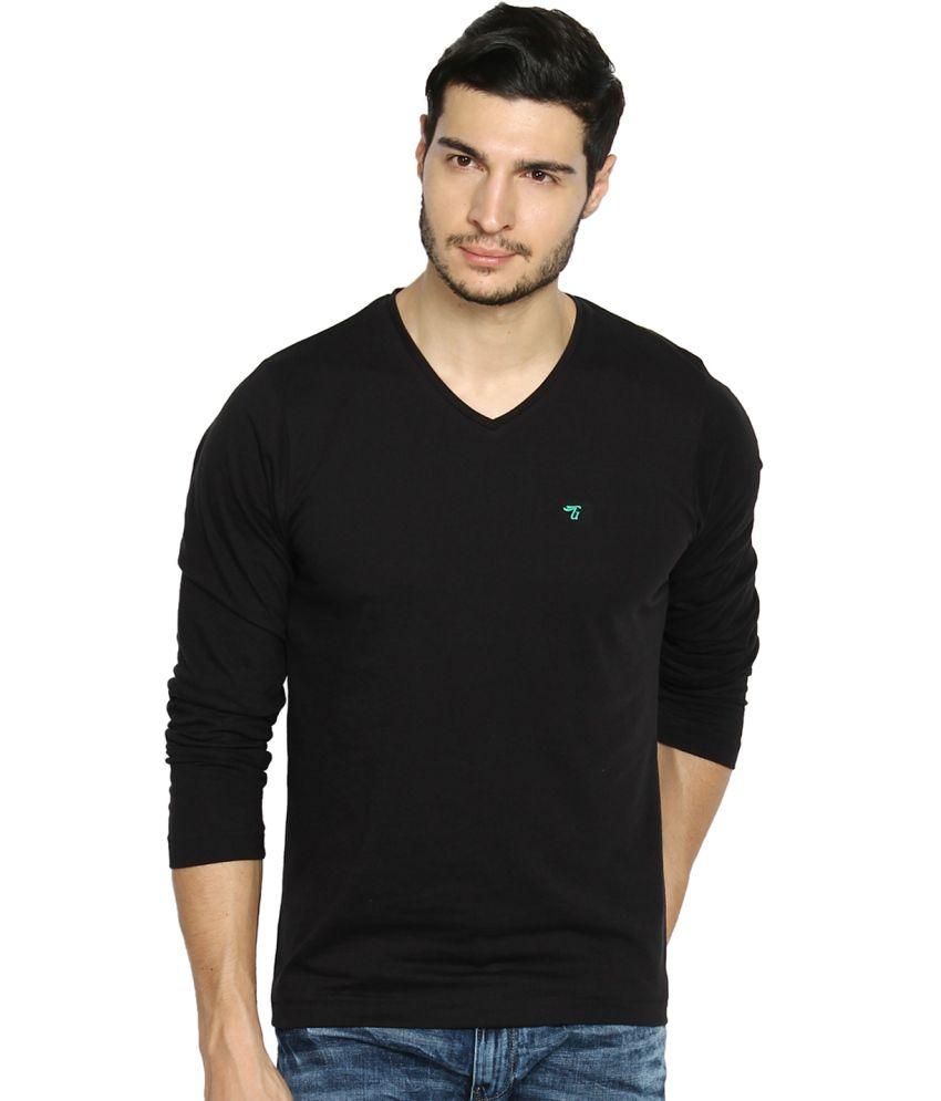 The Indian Garage Co. Black Cotton Blend T-shirt