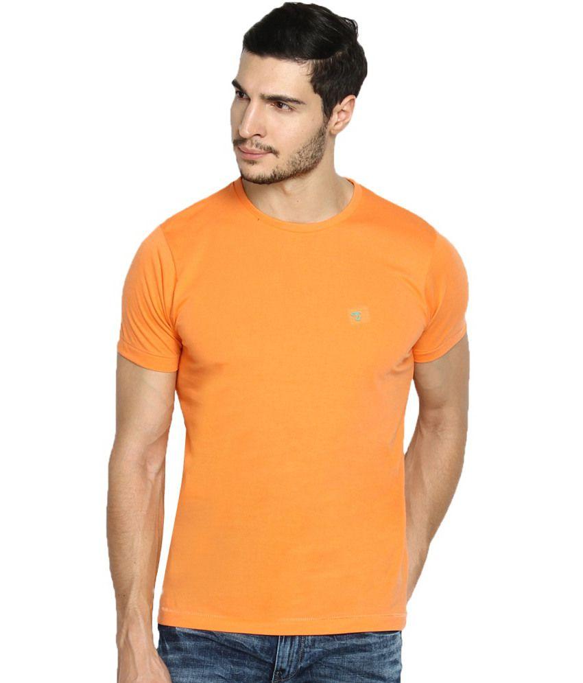The Indian Garage Co. Orange Cotton Blend T-shirt