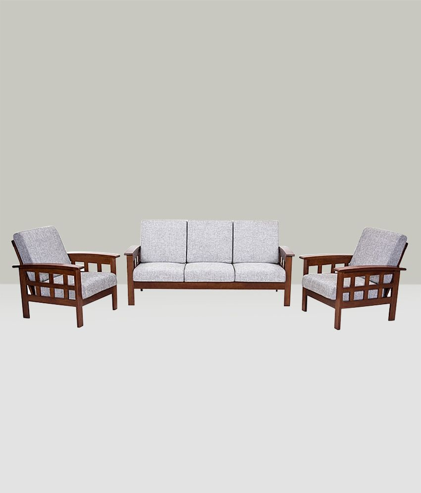 Wondrous Royaloak Sydney Sofa Set With Grey Upholstery Buy Gmtry Best Dining Table And Chair Ideas Images Gmtryco