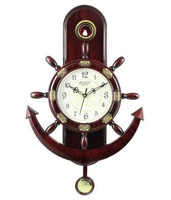 Plaza Quartz Motion Anchor And Steering Design Pendulum Wall Clock