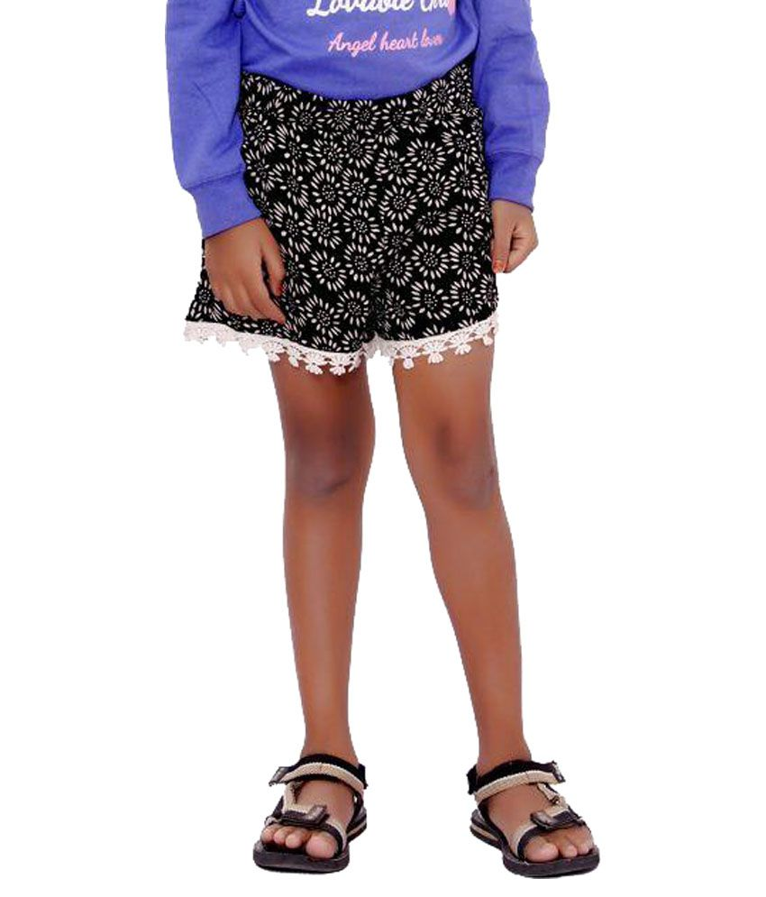 SML Originals Black Printed Shorts