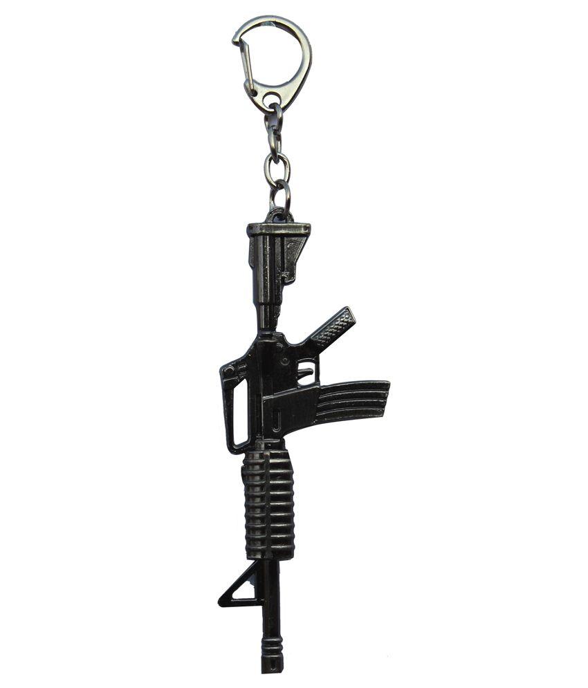 Anishop Gun Design Long Heavy Metal Keychain