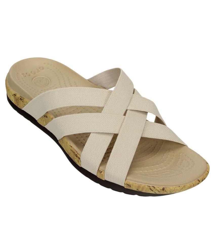 Crocs Edie Stretch Beige Slippers