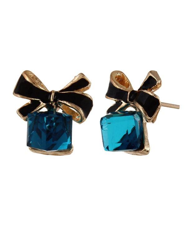 Fayon Blue Alloy Stud Earrings