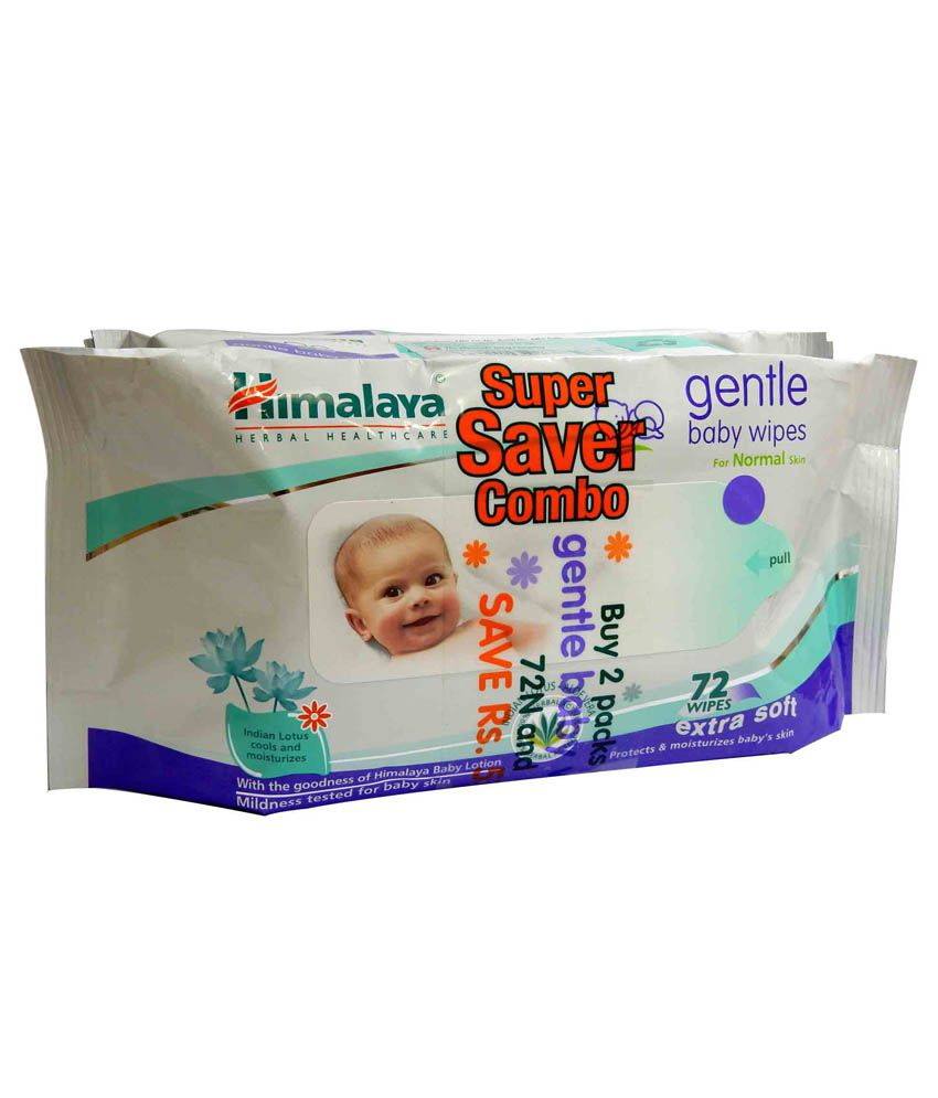 Himalaya Baby Wipes 72   Pack of 2