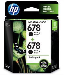 HP 678 Black Combo Pack Cartridges Pack of 2