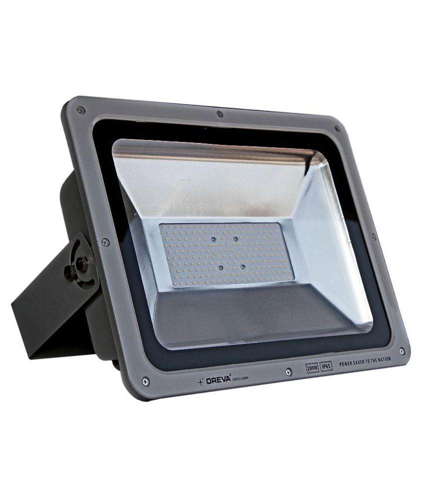 Led Flood Light India: Oreva 200W Waterproof Outdoor Pure Cool White SMD Bulb LED