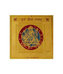 Numeroastro Gold Plated Shri Durga Beesa Yantra