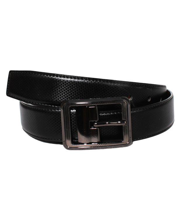 Lenin Black Leather Pin Buckle Casual Belt For Men