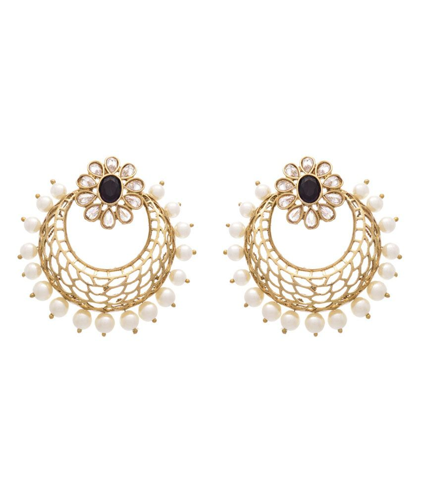 Jfl - Jewellery For Less White Gold Plated Earring Combo
