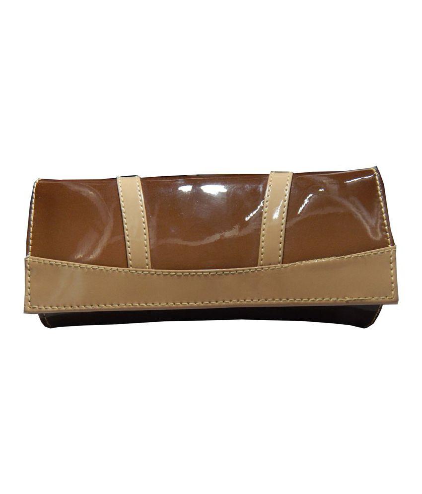 Navaksha Brown Designer Non Leather Regular Wallet