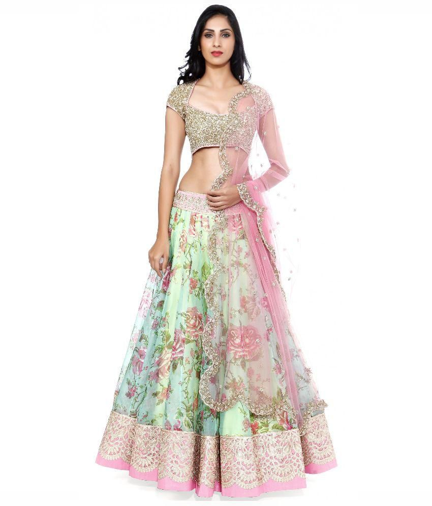 3dcd172b8e1f1 Fabboom Multi Color Net Lehenga - Buy Fabboom Multi Color Net Lehenga  Online at Best Prices in India on Snapdeal