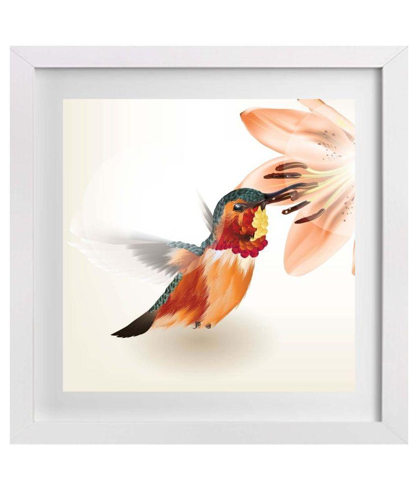 Artzfolio Humming Bird Canvas Art Print With Frame