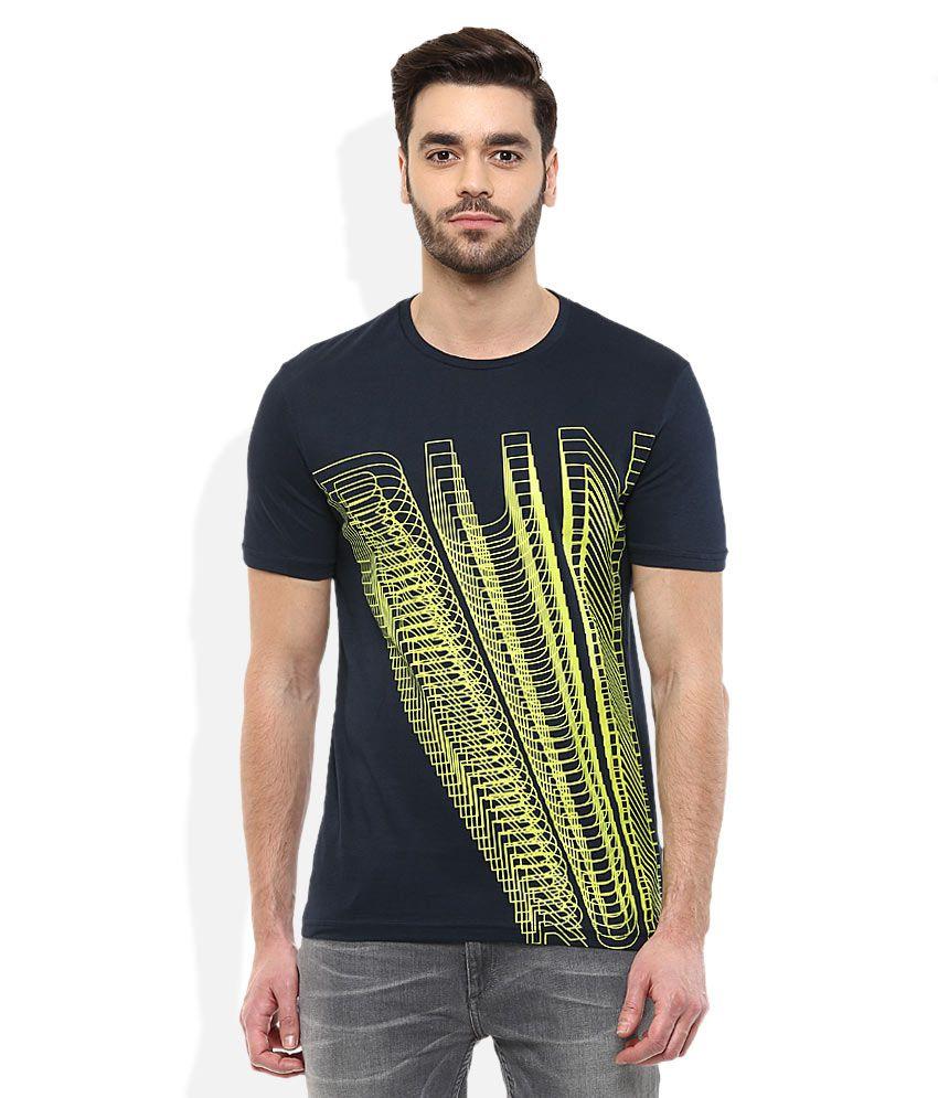 Celio Navy Round Neck T Shirt