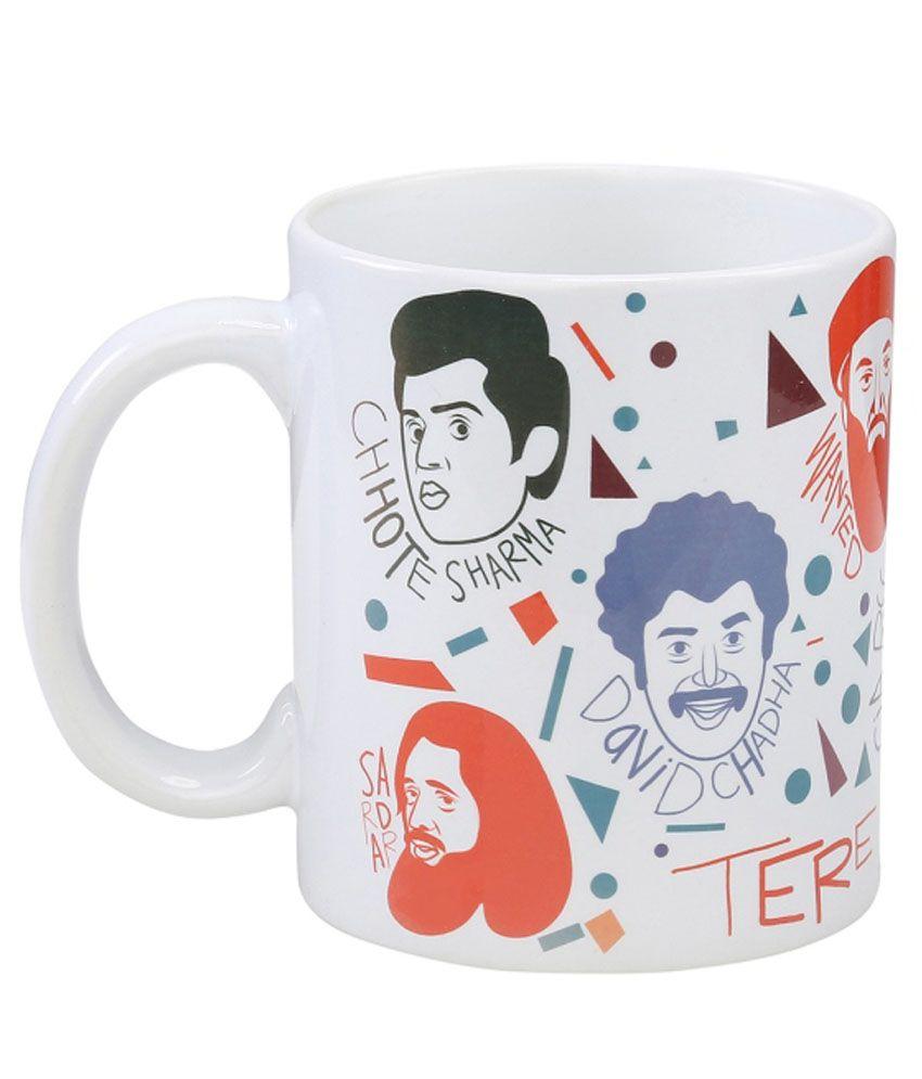 Imagica Multicolour Ceramic 300 Ml Coffee Mug