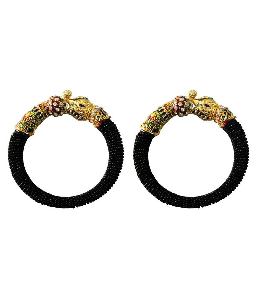 Pihu Black Designer Pair Of Kadas