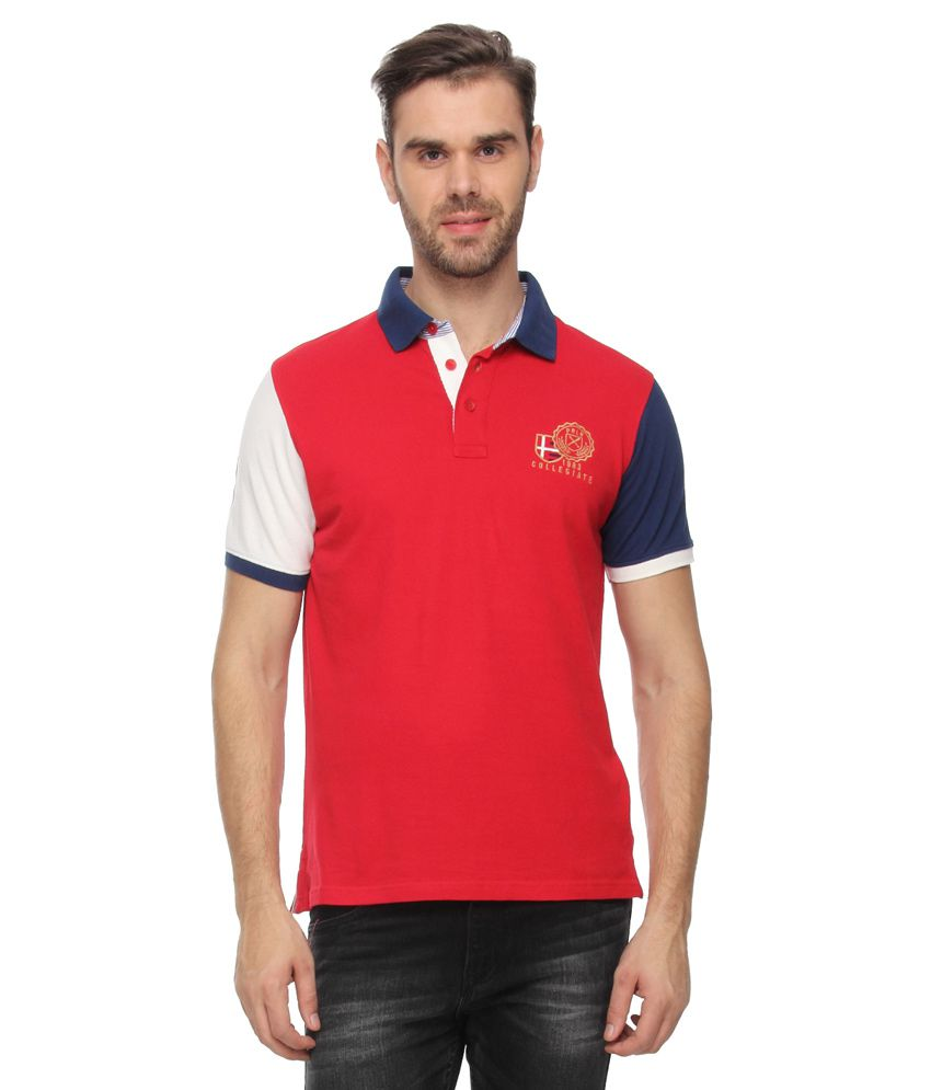 Proline Red Half Sleeves Polo T-Shirt