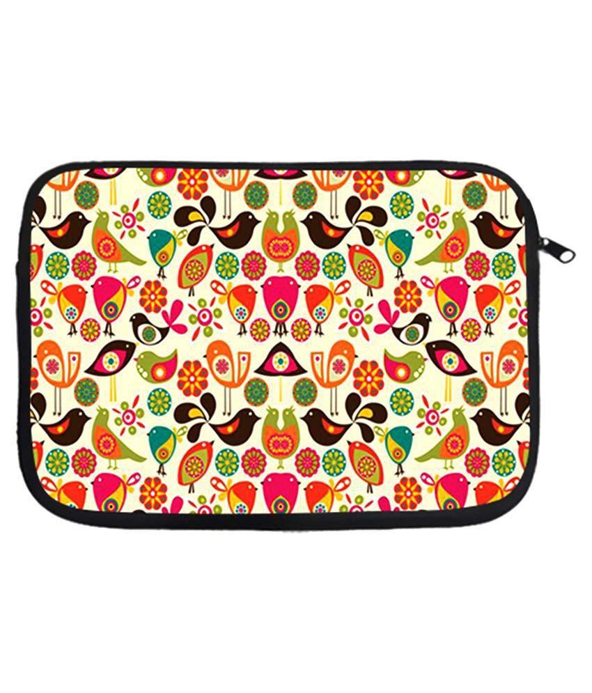 Via Flowers Multicolour Polyester Laptop Sleeve