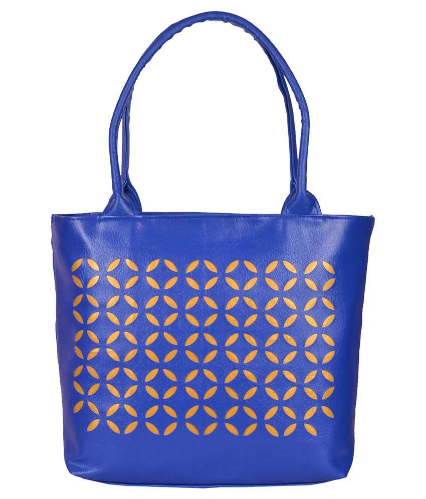 Prettyvogue Blue P.u. Shoulder Bag