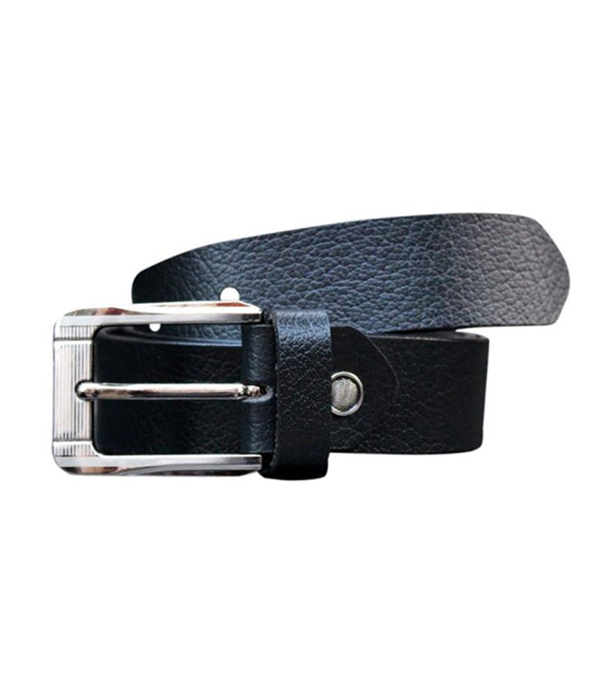 Winsome Deal Black Leather Formal Belt For Men
