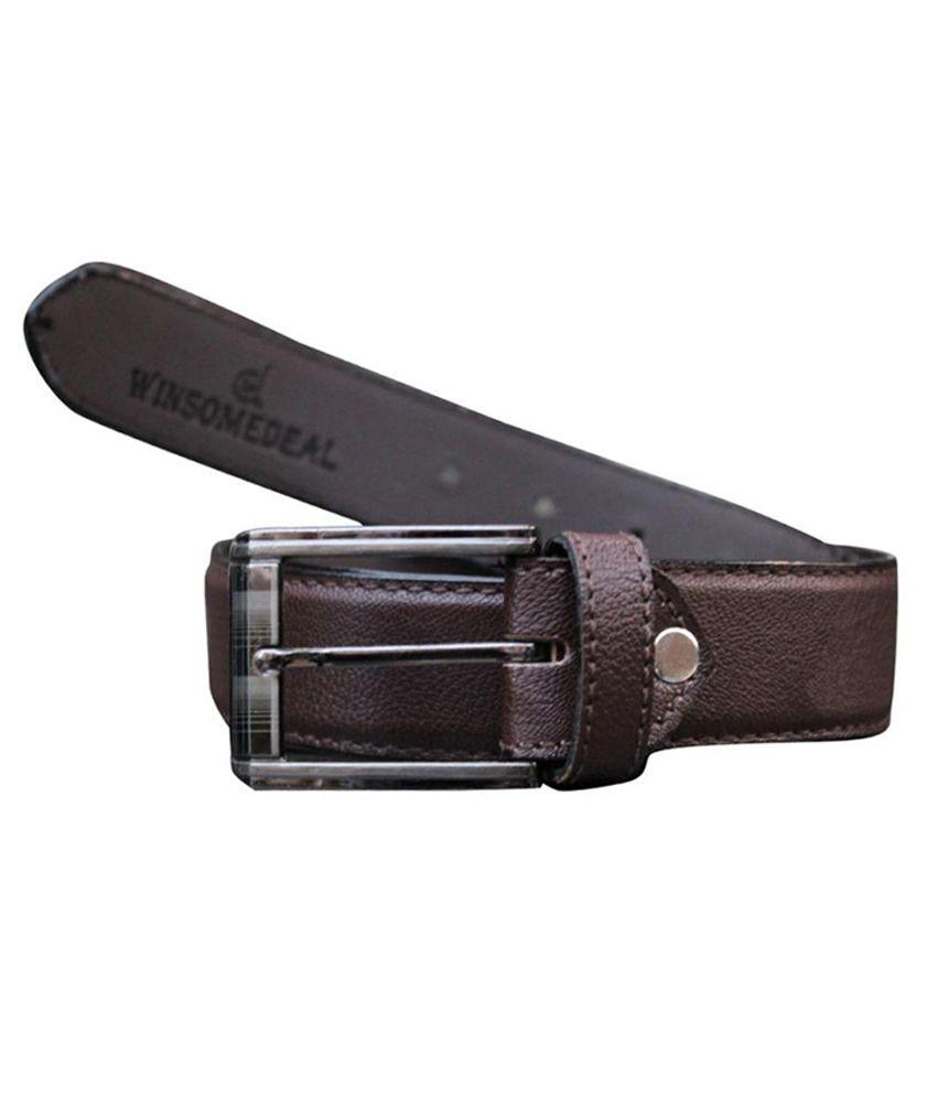 Winsome Deal Brown Formal Belt For Men