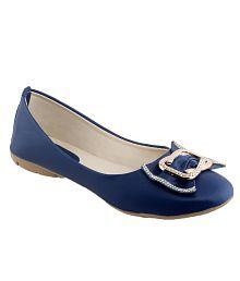 Shoe Lab Blue Ballerinas