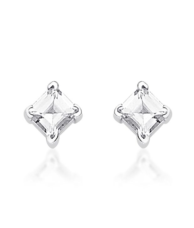 Taraash 92.5 Sterling Silver Cz Stud Earrings