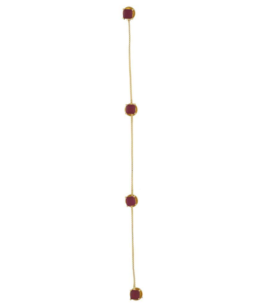 Classique Designer Jewellery Golden & Red Cufflink