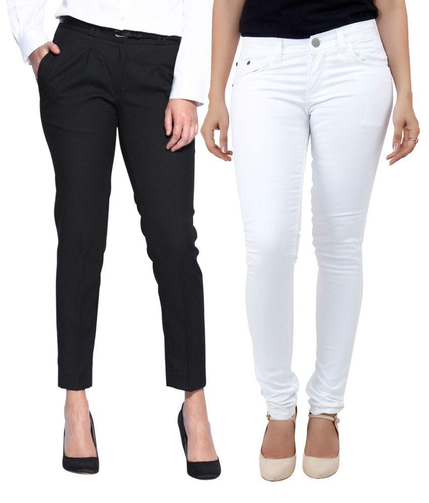 Haltung Black Cotton Jeans