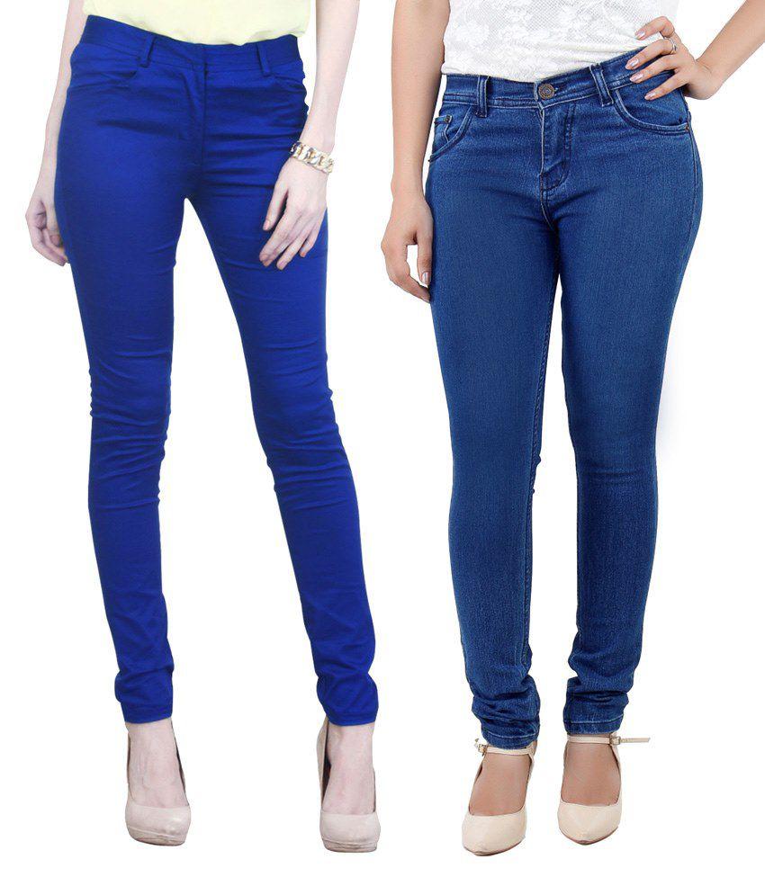 Haltung Blue Cotton Jeans