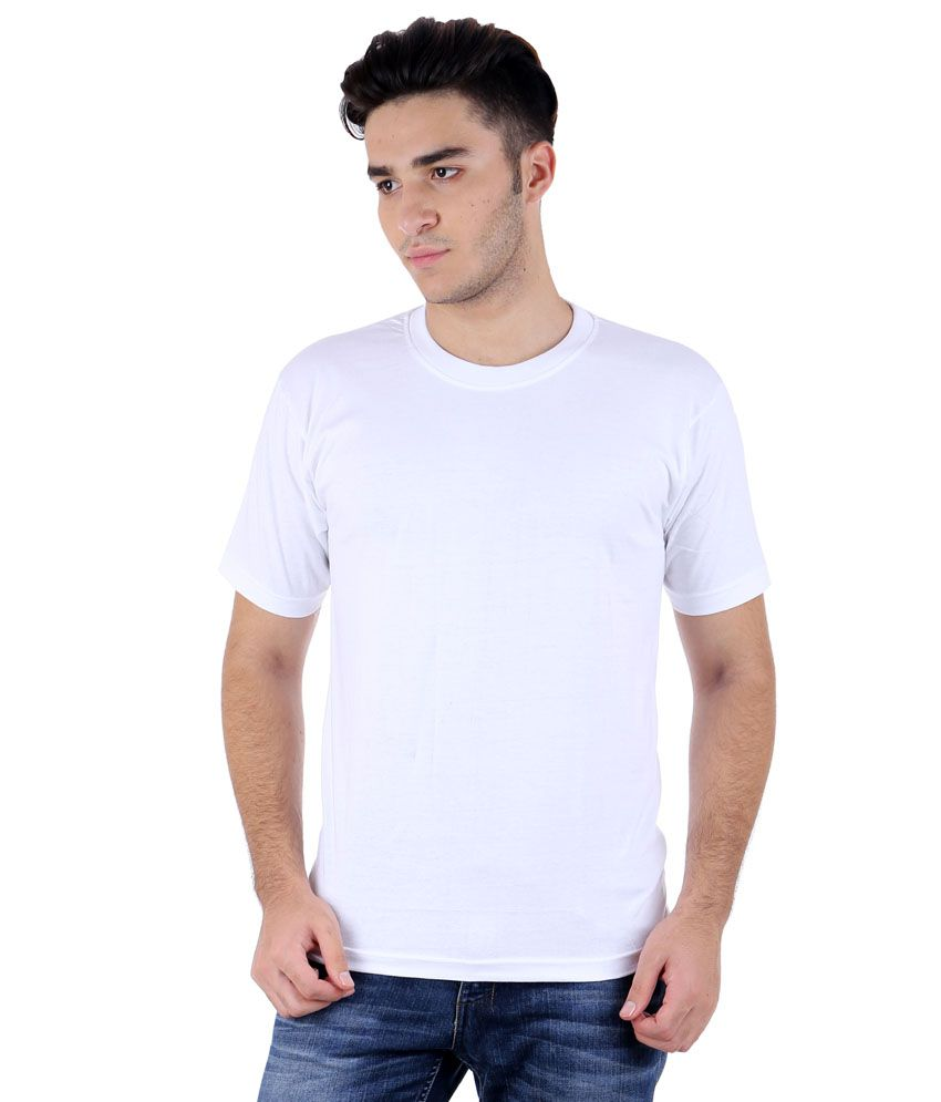Rakshita's Collection White Round T-shirt