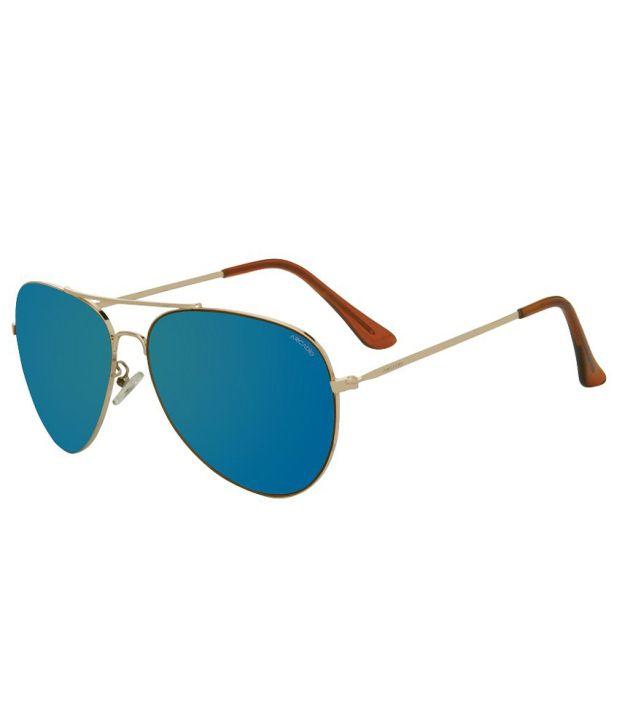 Arcadio Blue Unisex Aviator Sunglasses (AR127GD-BL-55)