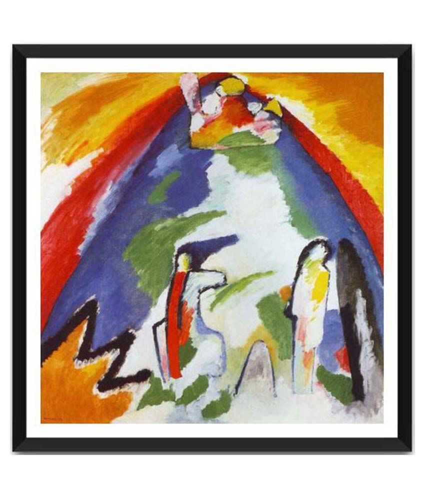 Tallenge A Mountain By Wassily Kandinsky Framed Art Print