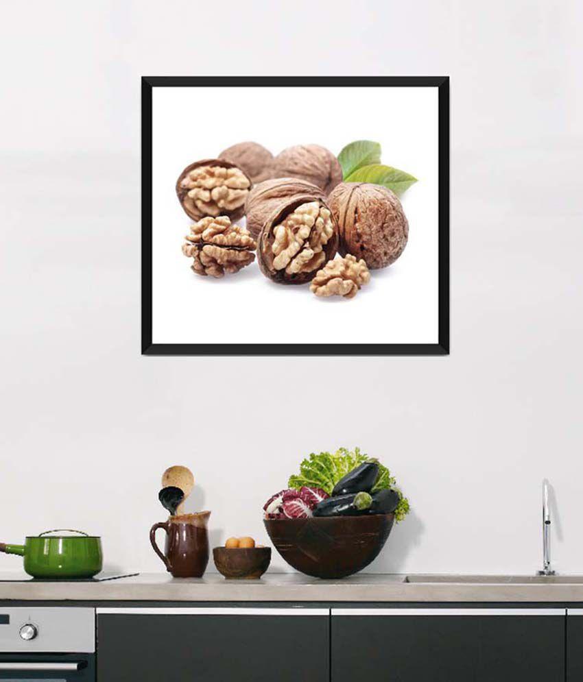 Tallenge Medium Brown Art For Kitchen Ingredient For Your Intelligence Framed Art Print