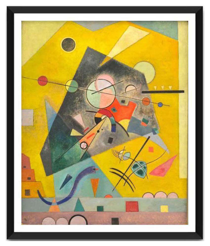 Tallenge Silent Harmony By Wassily Kandinsky Framed Art Print