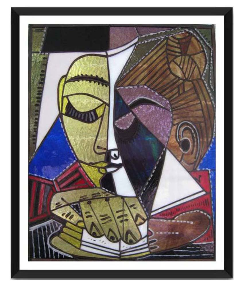 Tallenge Tete D'Une Femme Lisant By Pablo Picasso Framed Art Print