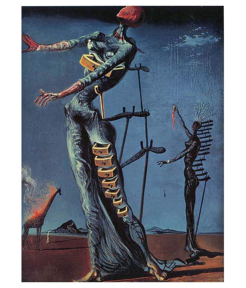 Tallenge The Burning Giraffe By Salvador Dali Gallery Wrap Canvas Art Print
