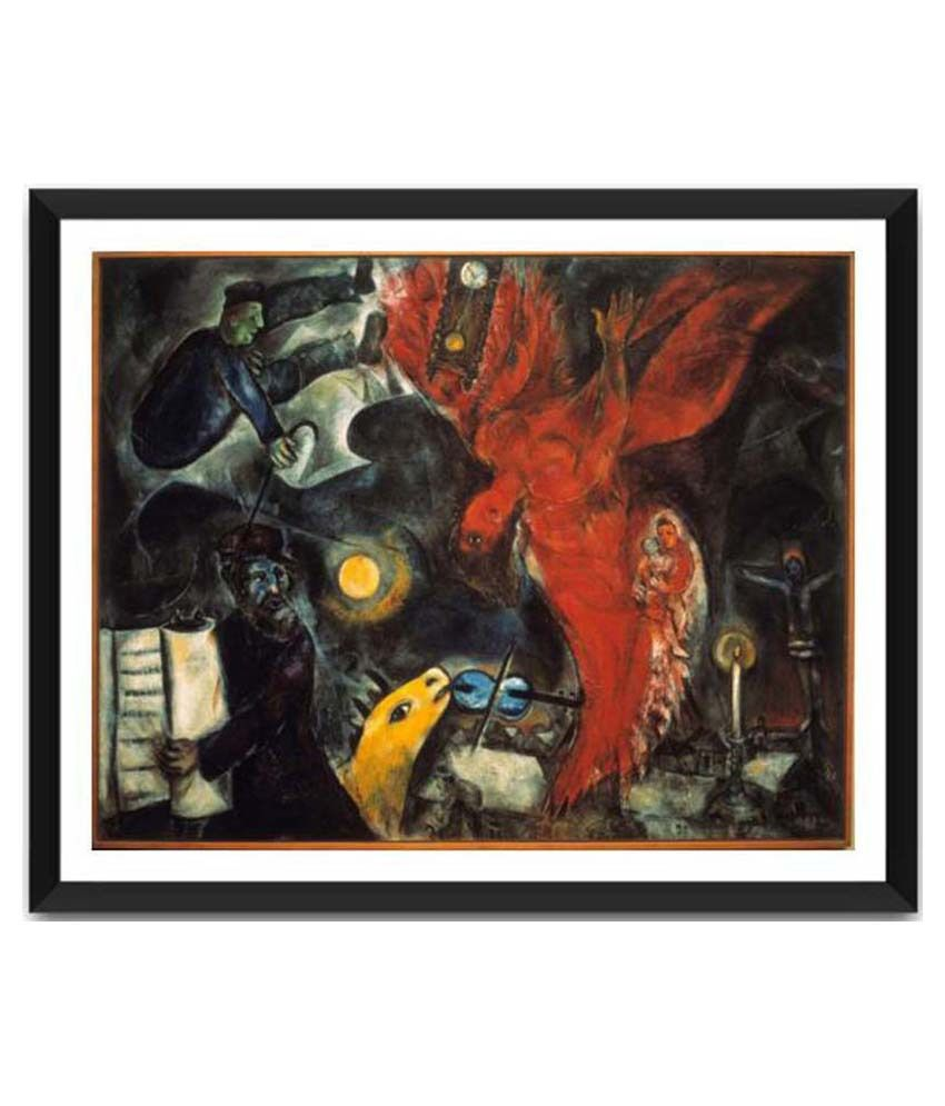 Tallenge The Fall Of The Angel By Marc Chagall Framed Art Print