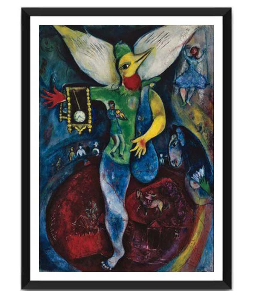 Tallenge The Juggler By Marc Chagall Framed Art Print