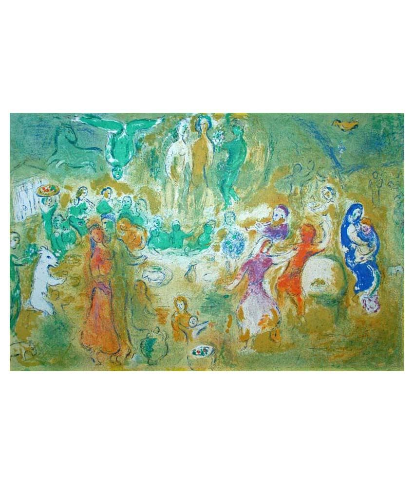 Tallenge Wedding Feast In The Nymphs' Grotto By Marc Chagall Gallery Wrap Canvas Art Print
