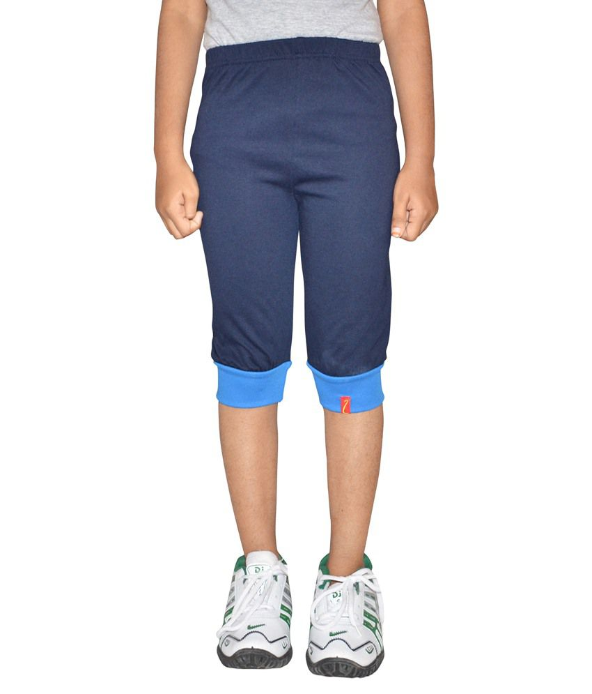 Clever Navy Capri For Girls
